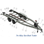 BB031 Trailer for Alloy Sea Boat - Steel